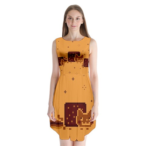 Nyan Cat Vintage Sleeveless Chiffon Dress