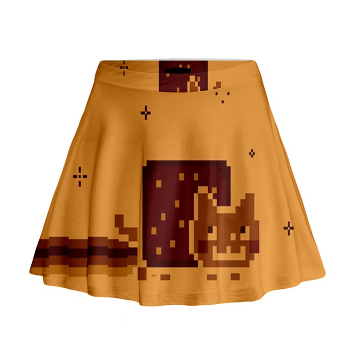 Nyan Cat Vintage Mini Flare Skirt