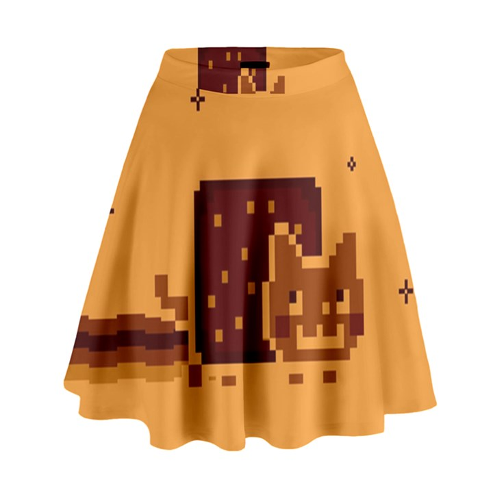 Nyan Cat Vintage High Waist Skirt