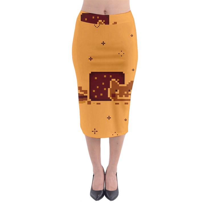 Nyan Cat Vintage Midi Pencil Skirt