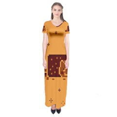 Nyan Cat Vintage Short Sleeve Maxi Dress
