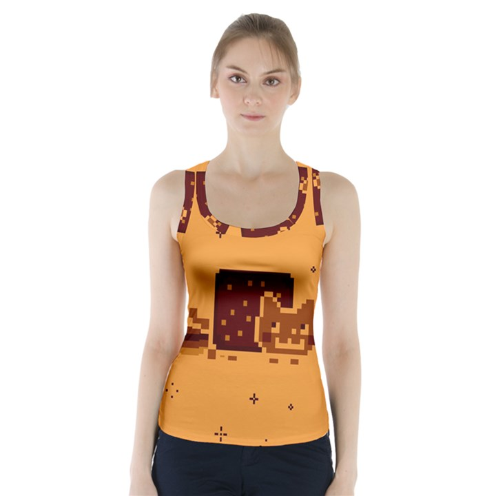 Nyan Cat Vintage Racer Back Sports Top