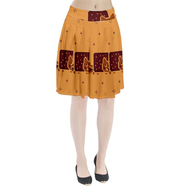 Nyan Cat Vintage Pleated Skirt