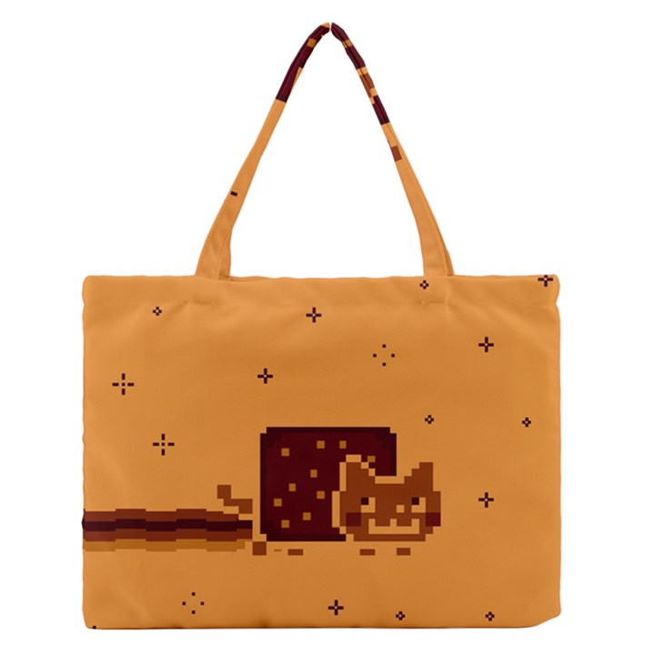 Nyan Cat Vintage Medium Zipper Tote Bag