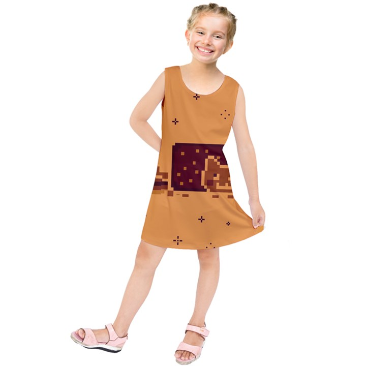 Nyan Cat Vintage Kids  Tunic Dress