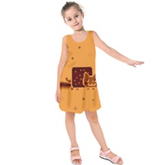 Nyan Cat Vintage Kids  Sleeveless Dress