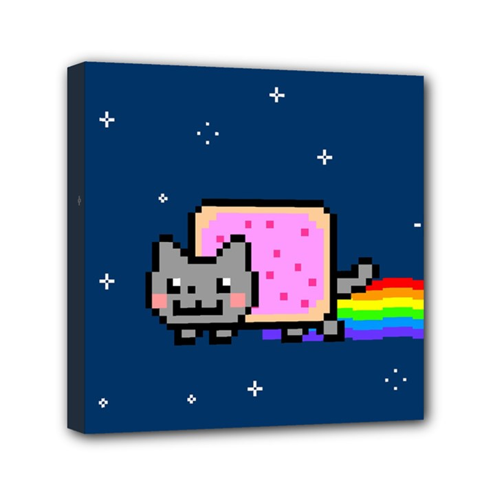 Nyan Cat Mini Canvas 6  x 6