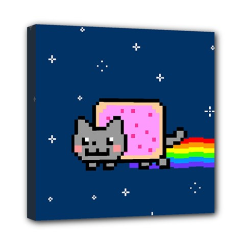 Nyan Cat Mini Canvas 8  x 8
