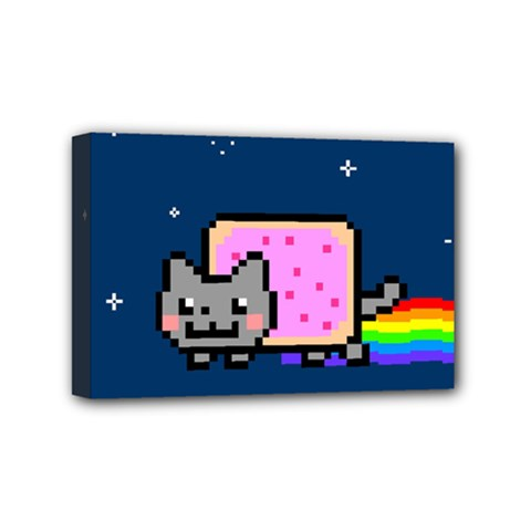 Nyan Cat Mini Canvas 6  x 4