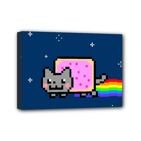 Nyan Cat Mini Canvas 7  x 5