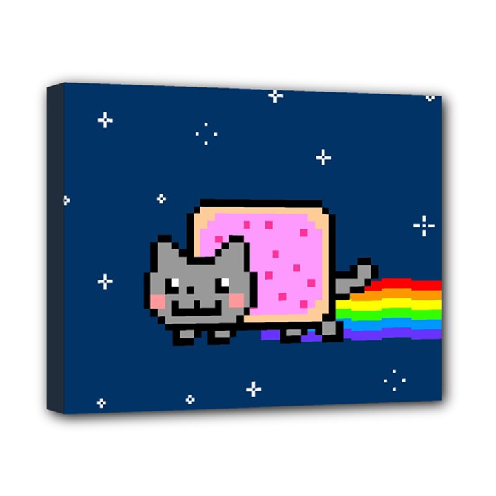 Nyan Cat Canvas 10  x 8
