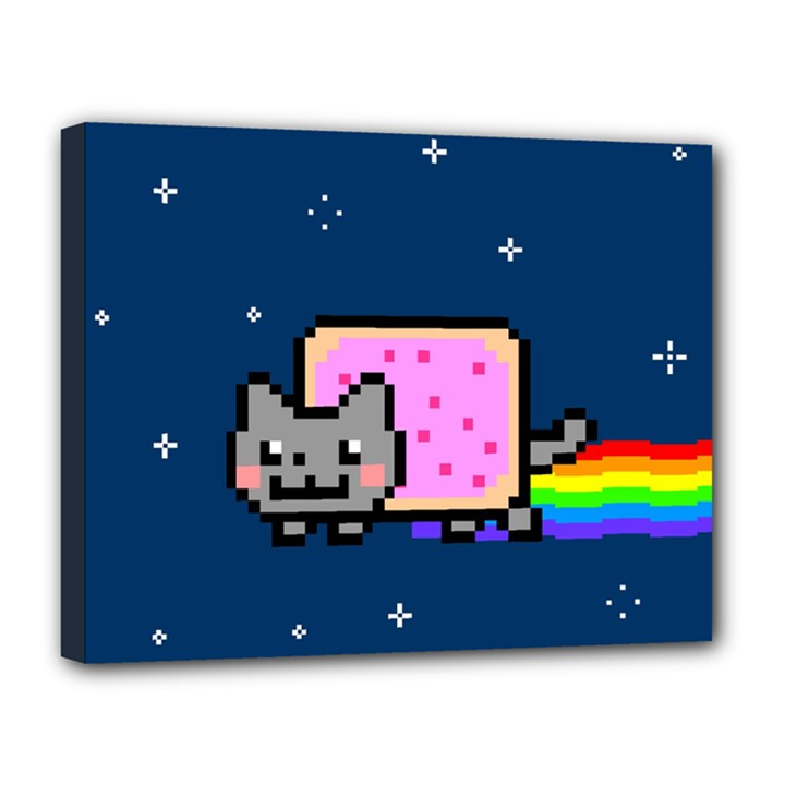 Nyan Cat Canvas 14  x 11
