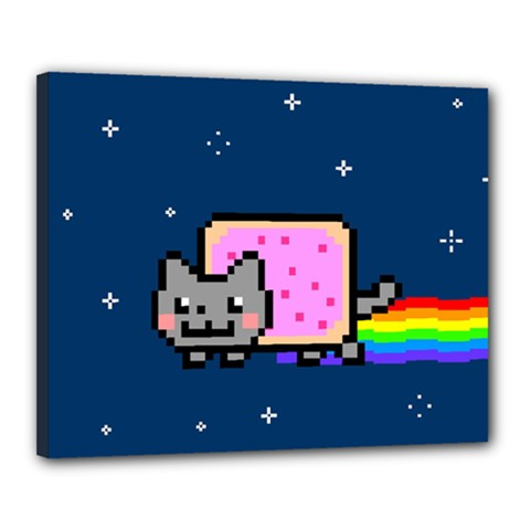 Nyan Cat Canvas 20  X 16