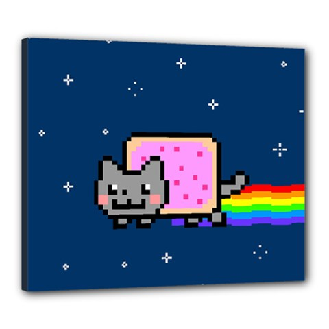 Nyan Cat Canvas 24  x 20