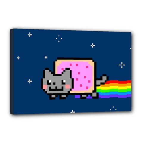 Nyan Cat Canvas 18  X 12