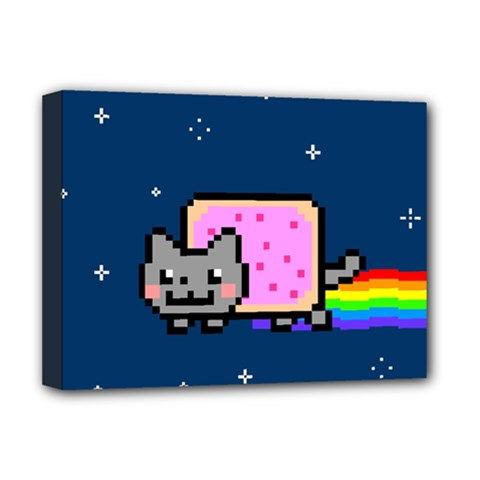 Nyan Cat Deluxe Canvas 16  x 12