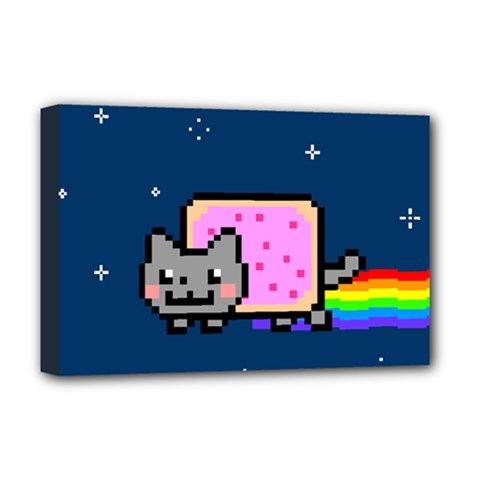 Nyan Cat Deluxe Canvas 18  X 12