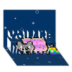 Nyan Cat YOU ARE INVITED 3D Greeting Card (7x5)
