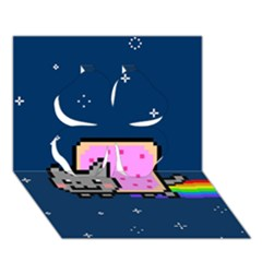 Nyan Cat Clover 3d Greeting Card (7x5)