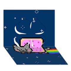 Nyan Cat Clover 3D Greeting Card (7x5)