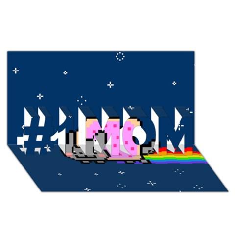Nyan Cat #1 MOM 3D Greeting Cards (8x4)