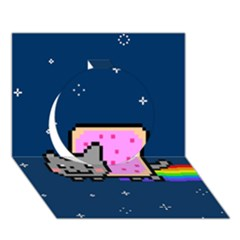 Nyan Cat Circle 3d Greeting Card (7x5)