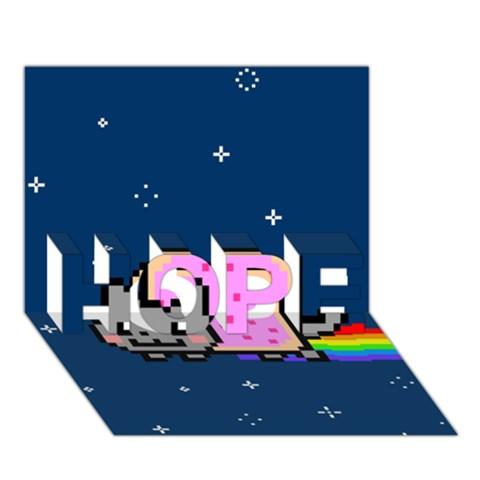 Nyan Cat HOPE 3D Greeting Card (7x5)