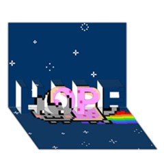 Nyan Cat Hope 3d Greeting Card (7x5)