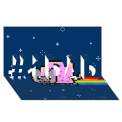 Nyan Cat #1 DAD 3D Greeting Card (8x4)