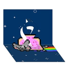 Nyan Cat Ribbon 3d Greeting Card (7x5)