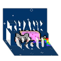 Nyan Cat Thank You 3d Greeting Card (7x5)