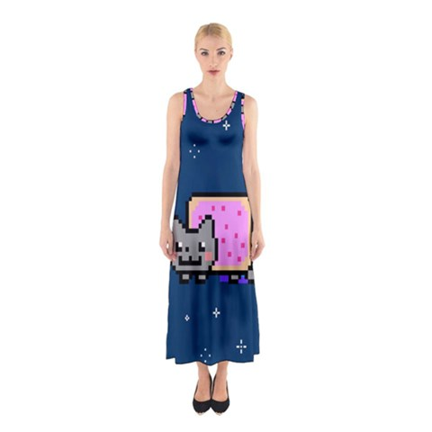 Nyan Cat Sleeveless Maxi Dress