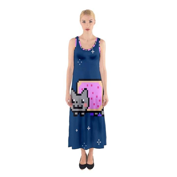 Nyan Cat Sleeveless Maxi Dress