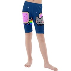 Nyan Cat Kids  Mid Length Swim Shorts