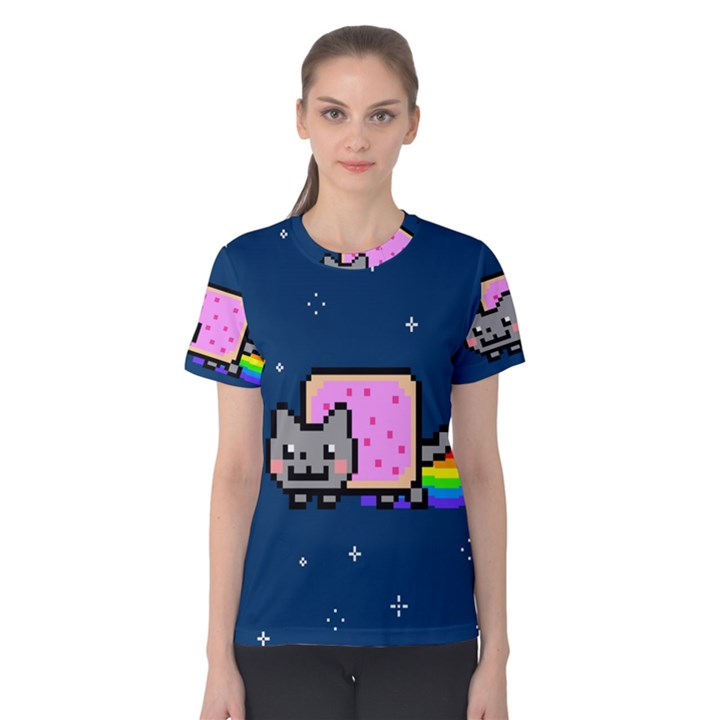 Nyan Cat Women s Cotton Tee