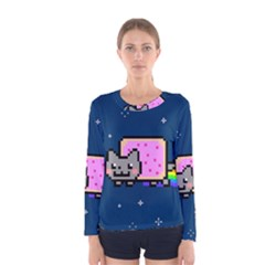Nyan Cat Women s Long Sleeve Tee