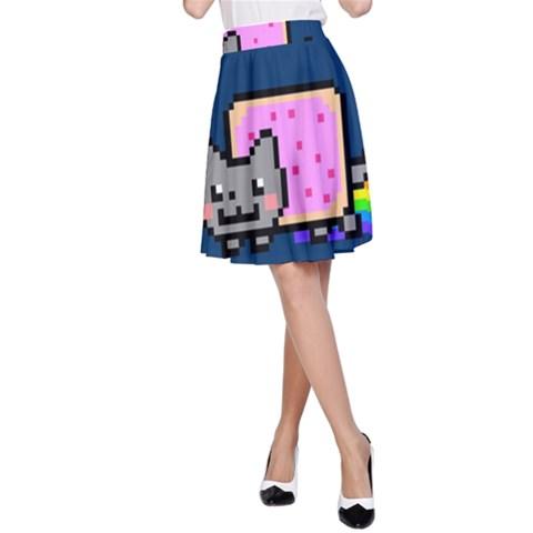 Nyan Cat A-Line Skirt