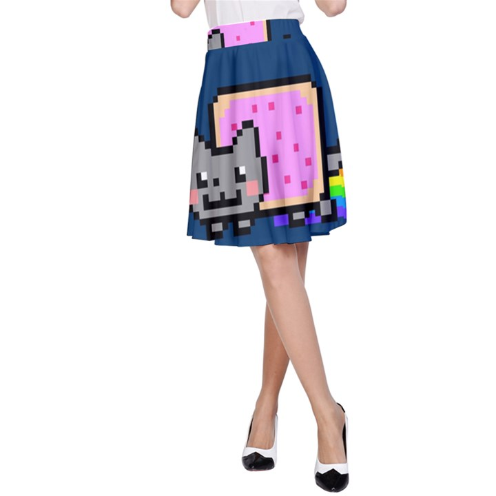 Nyan Cat A-Line Skirt
