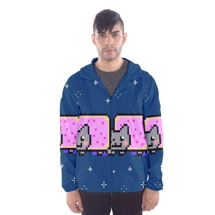 Nyan Cat Hooded Wind Breaker (Men)
