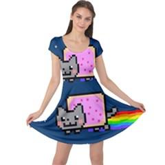 Nyan Cat Cap Sleeve Dresses