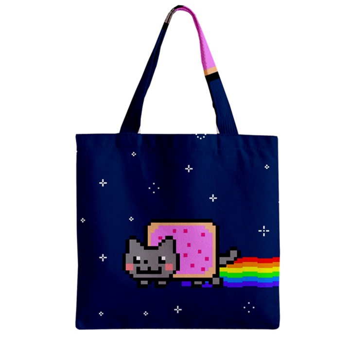 Nyan Cat Zipper Grocery Tote Bag