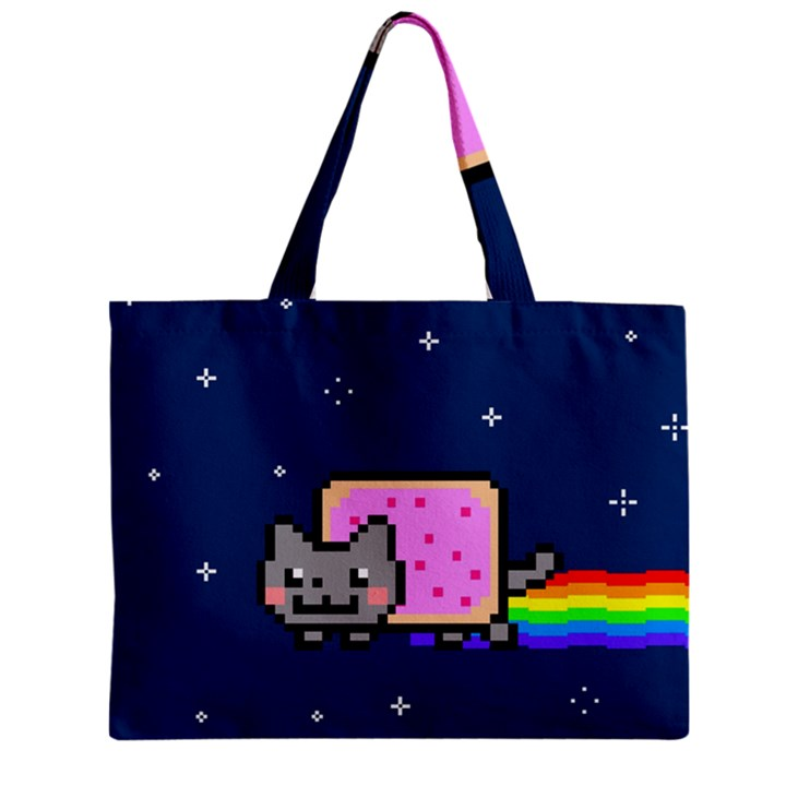 Nyan Cat Zipper Mini Tote Bag