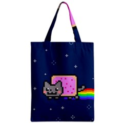 Nyan Cat Zipper Classic Tote Bag