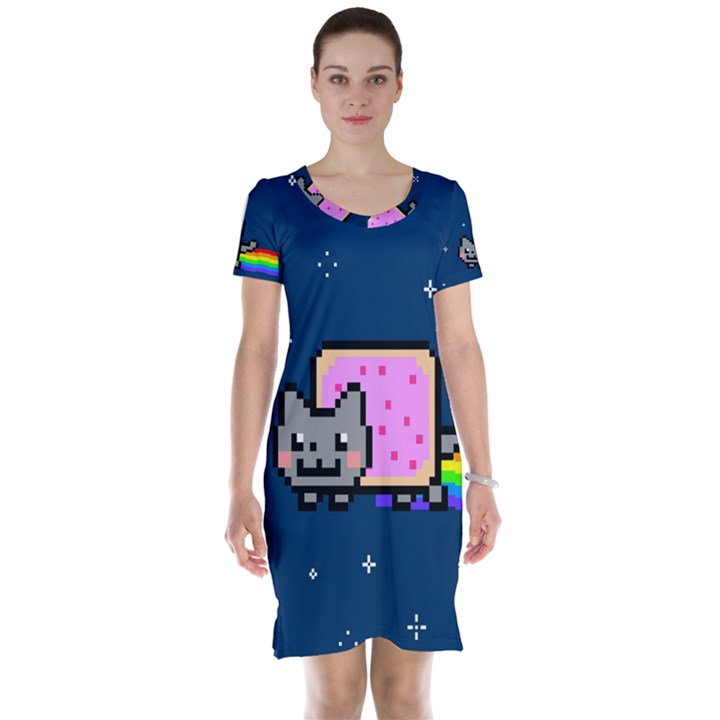 Nyan Cat Short Sleeve Nightdress