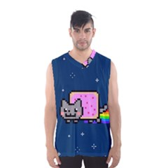 Nyan Cat Men s Basketball Tank Top