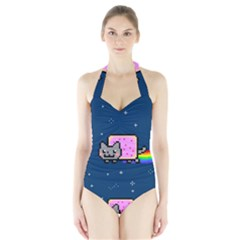 Nyan Cat Halter Swimsuit