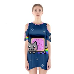 Nyan Cat Cutout Shoulder Dress