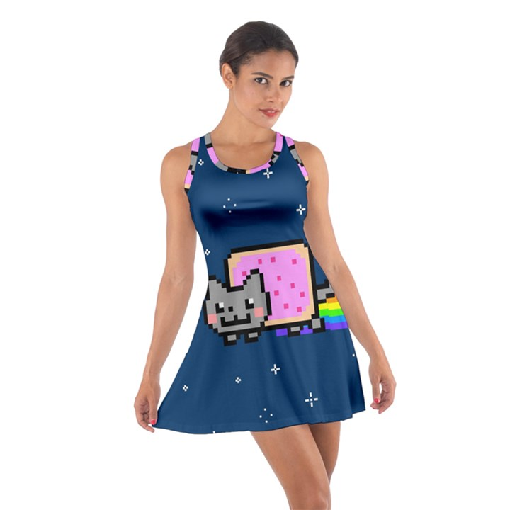 Nyan Cat Cotton Racerback Dress