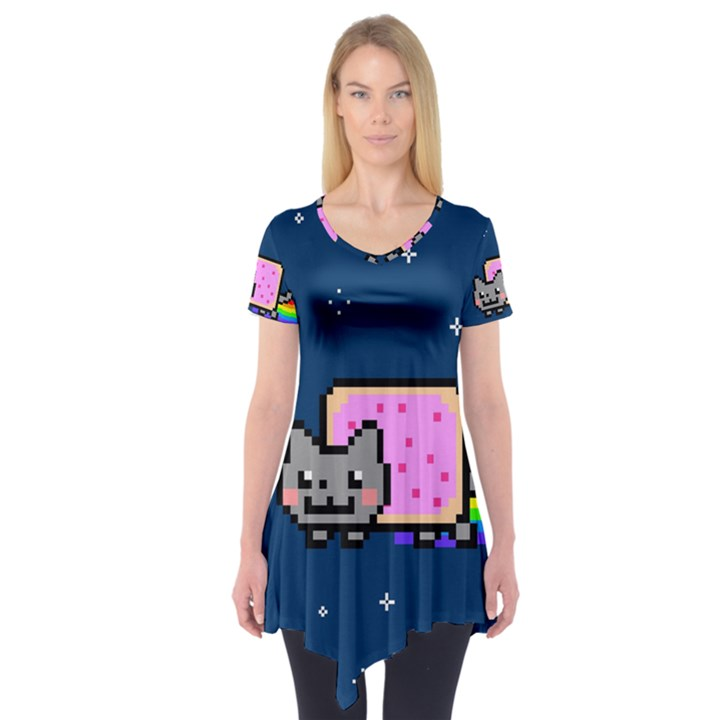Nyan Cat Short Sleeve Tunic