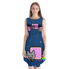 Nyan Cat Sleeveless Chiffon Dress